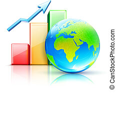 global business concept - Vector illustration of global...