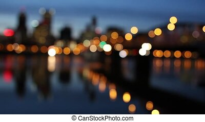 Portland Oregon City with Bokeh