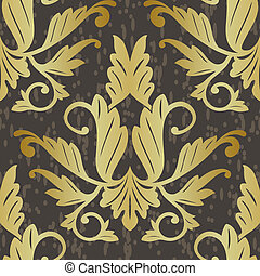 old floral abstract seamless background pattern