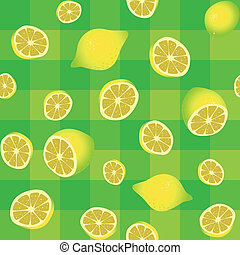 lemons seamless background pattern