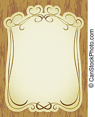 vintage label frame pattern
