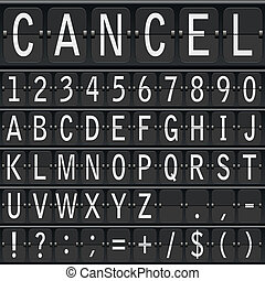 vector alphabet set. mechanical timetable letters - vector...
