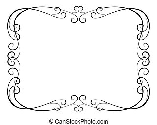 calligraphy ornamental decorative frame - Vector calligraphy...