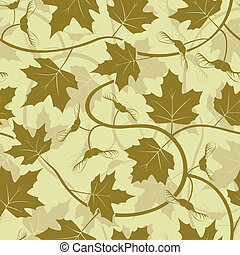 maple leaf acorn seamless background