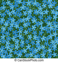forget me not seamless flowers background - vector forget me...