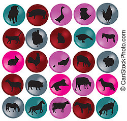 animal silhouette - vector animal silhouettes