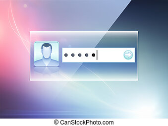computer security concept - Vector illustration of soft...