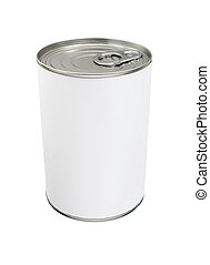 Blank Tin Can - Food Tin Can with Blank White Label
