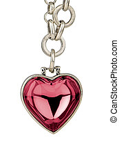 Heart pendent - Lovely pendent in the shape of a heart...