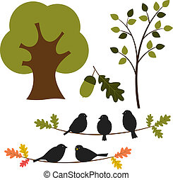 Vector tree and nature set