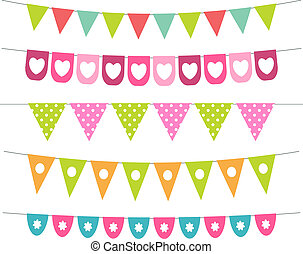 Vector bunting collection