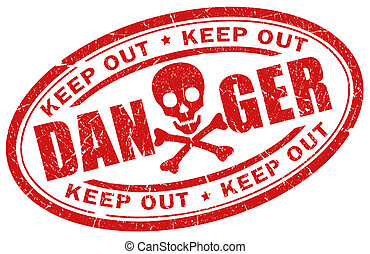 Danger stamp illustration