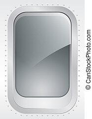 Porthole. - Porthole of a plane or ship, external view -...
