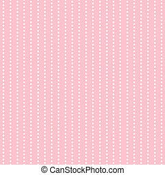 White Polkadot Stripes on Pink