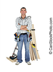 Carpenter with materials