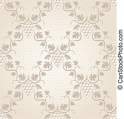 Seamless grape pattern EPS 8 vector illustration