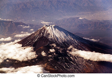 Mount Fuji, seen from above.