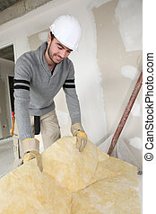 Builder insulating house