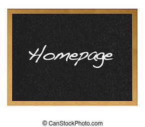 Homepage - Isolated blackboard with Homepage