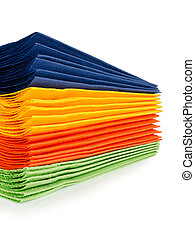 Multi-colored paper napkins