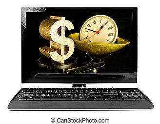business, time is money - in business time is money, dollar...