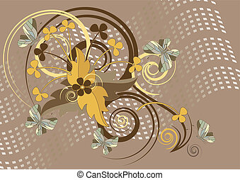 Background with batterfly - Brown background with butterfly...