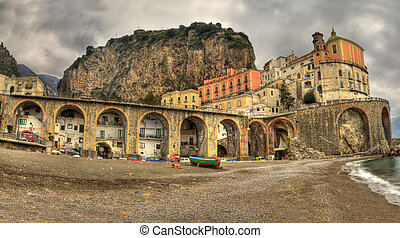 Atrani,italian fishing village, landscape