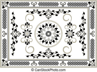 Frame of oriental pattern.