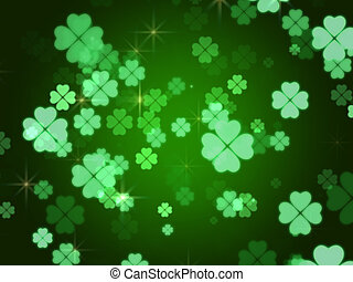 clovers background - green background with flowers clovers...