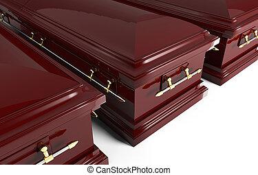 3D, cercueil