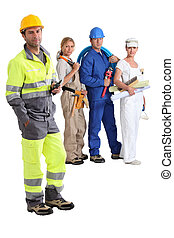 group of manual workers
