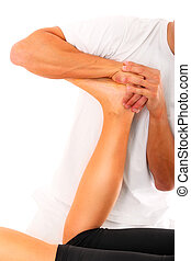 Professional leg treatment - A picture of a physio therapist...