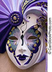 Venetian carnival mask - Venice, Venezia, Italy, Europe