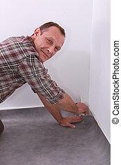 man carpeting