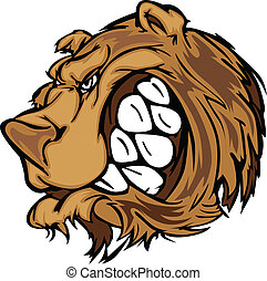 Bear Grizzly Mascot Head Vector Car - Cartoon Vector Mascot...