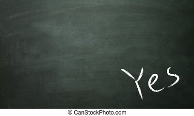 yes and no in blackboard - the graphical of true and false...