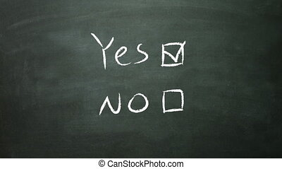 yes no box - the graphical of true and false decision making...