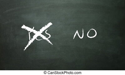 yes no cross