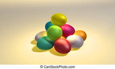 easter color egg hill - colorful easter eggs background This...