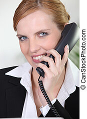 Portrait of smiling receptionist