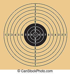 target vector illustration on ligh brown background