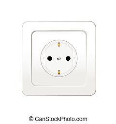 socket in white color vector illustration
