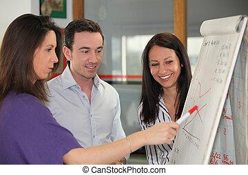 Sales team having a meeting