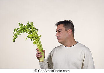 Boring diet - Guy not too pleased with his vegetables