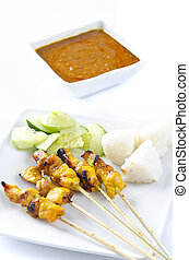 Delicious Asian Cuisine Chicken Satay