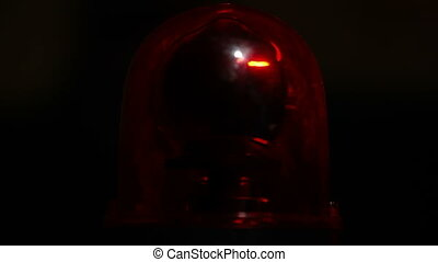 Red Emergency Light - Red emergency light flashing
