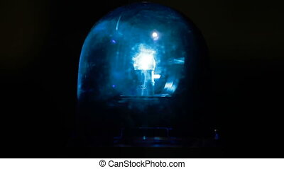 Blue Emergency Light - Blue emergency light flashing