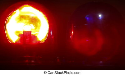 Flashing Emergency Light - Red and blue emergency light...