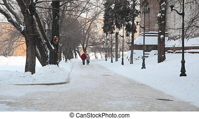 People walking at Novodevichy Conve - Moscow, Russia