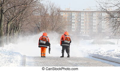 Janitors at Novodevichy Convent  po